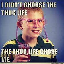 My Life Is Over Meme - i didn t choose the thug life meme live life with a light heart