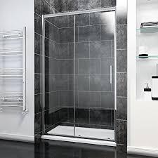 Easy Clean Shower Doors 1000mm Sliding Shower Door Modern Bathroom 8mm Easy Clean Glass
