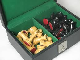 buy genuine leather storage box for luxury chess pieces online