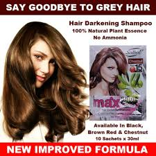 sachets of hair colours 2015 qoo10 solbol hair darkening shoo black brown red and