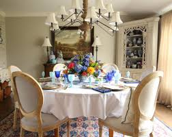 Dining Room Table Floral Centerpieces by Setting The Table For Easter Dinner A Colorful Floral Place