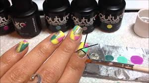 color blocking nail art using couture gel nail polish youtube