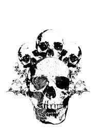 skull t shirt design by icono graphic devia on frame with skull
