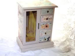 mbs large themed jewelry box vintage jewelry armoire