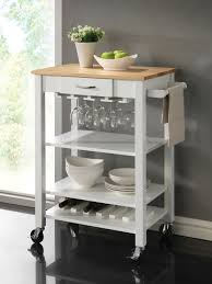 Open Shelving Bathroom by Bathroom White Kitchen Cart With Open Shelves And Napkin Bar