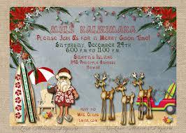 christmas party invitations hawaiian christmas party invitation santa claus party