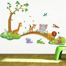 Jungle Home Decor by Aliexpress Com Buy Cartoon Jungle Wild Animal Wall Stickers For