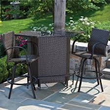 Outdoor Bar Table Set Outdoor Patio Bar Table And Chairs Home Design Pertaining To