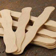 fan sticks unfinished wood wavy paddle fan sticks popsicle sticks and fan