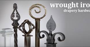 wrought iron drapery hardware and wrought iron curtain rods inside