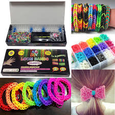 looms bracelet kit images Colourful loom bands rainbow rubber bracelet making kit diy jpg