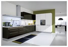 tiny corner area for minimalist kitchen design with black and