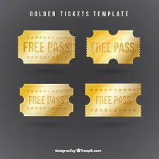ticket template free download golden tickets template vector free download