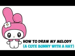 draw melody kitty kawaii chibi bunny