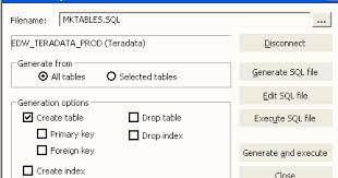 Teradata Create Table Informatica Creating Target Table From Designer Itself