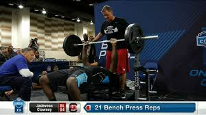 Tom Brady Combine Bench Press South Carolina Defensive End Jadeveon Clowney U0027s Bench Press Nfl