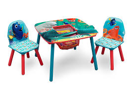 amazon com delta children table and chair set with storage