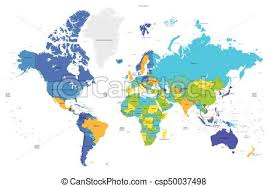 world map of capital cities high detail color world map capital and big cities vector eps