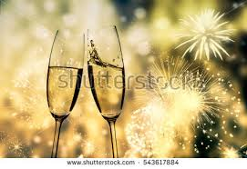 new years chagne glasses new year fireworks chagne glasses vector stock vector 322343282