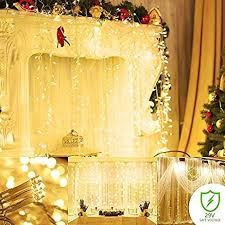 amazon com string lights curtain 300 led icicle wall lights