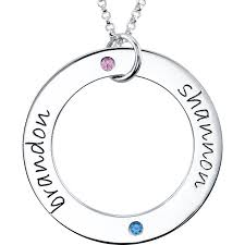 Necklace With Name And Birthstone Personalized Jewelry Champagne Jewelers