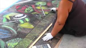 3d Hole Murals 3d Cake Image Teenage Mutant Ninja Turtles Artist Mural Youtube