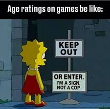 Funny Gaming Memes - pegi 18 or really whatever because nobody checks anyway video game