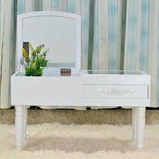 Small Makeup Desk Small Makeup Vanity Modern Mini Dressing Table Mirrored Dresser