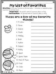 proper noun u0026 common noun freebie favorites list nouns