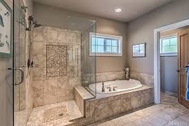 gorgeous master bath extra large walk in shower glass door