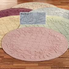 lattice vine round area rug