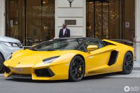 yellow lamborghini aventador lamborghini aventador lp700 4 roadster 9 october 2016 autogespot