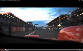 porsche 919 top view onboard footage from porsche 919 hybrid lapping le mans is