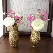 Glitter Home Decor Popular Items For Wedding Centerpiece On Etsy Gold Glitter Vase