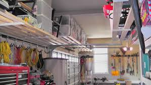Building Wood Garage Shelves by Simple Garage Overhead Storage Ideas Ceiling Wood And Inspiration