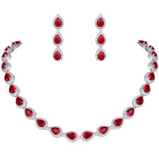 red necklace earring set images Bracelet necklace earrings set images jpg