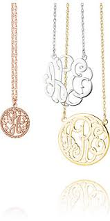 Monogram Pendant Necklace Monogram Jewelry Stuller