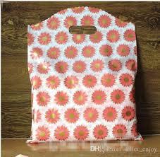 wholesale large sun flower plastic bags 30x40cm large shopping