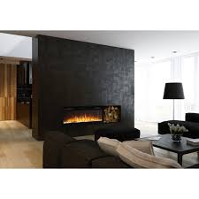 electric fireplace contemporary closed hearth wall mounted with