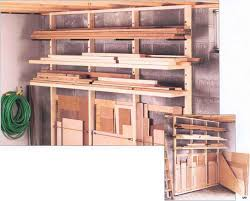 Wood Storage Rack Woodworking Plans by Lumber Rack Workbenches Woodworking Archive