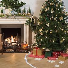 aliexpress com buy ourwarm 48 inch burlap tree skirt snowflake