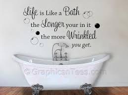 themed sayings wall design ideas bathtub wrinkled bathroom wall decals