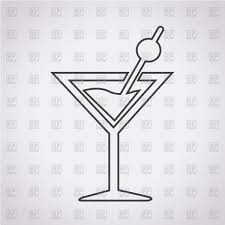 cocktail icon vector cocktail glass icon on grey background vector clipart image