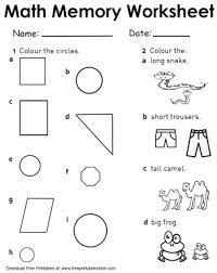 circles and tall short math memory worksheets
