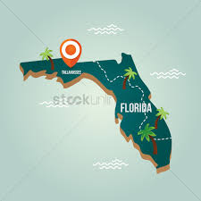 Map Of Usa Capitals by Florida Map With Capital City Vector Image 1536582 Stockunlimited