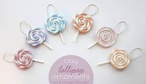 lollipop ornaments polymer clay