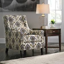 Upholstered Accent Chair Ashley 8100221 Barinteen Casual Printed Fabric Upholstery Accent Chair