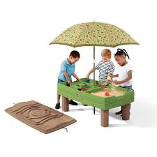 step 2 water table with umbrella naturally playful sand water activity center kids sand water
