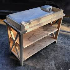 White Wood Changing Table White Build A Rustic X Diy Changing Table Free And Easy