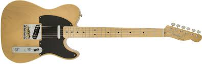 fender classic player baja telecaster maple fingerboard blonde